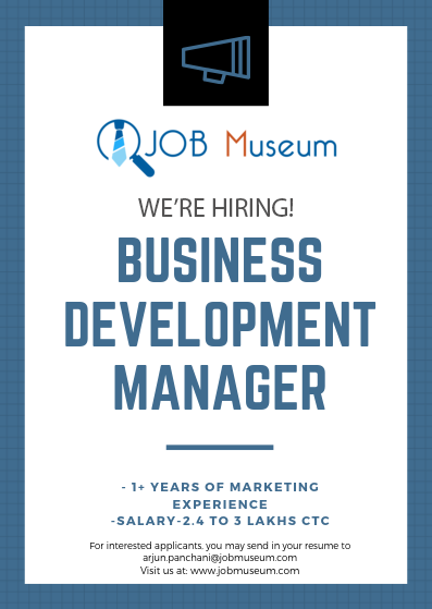 Hiring Business Development Manager