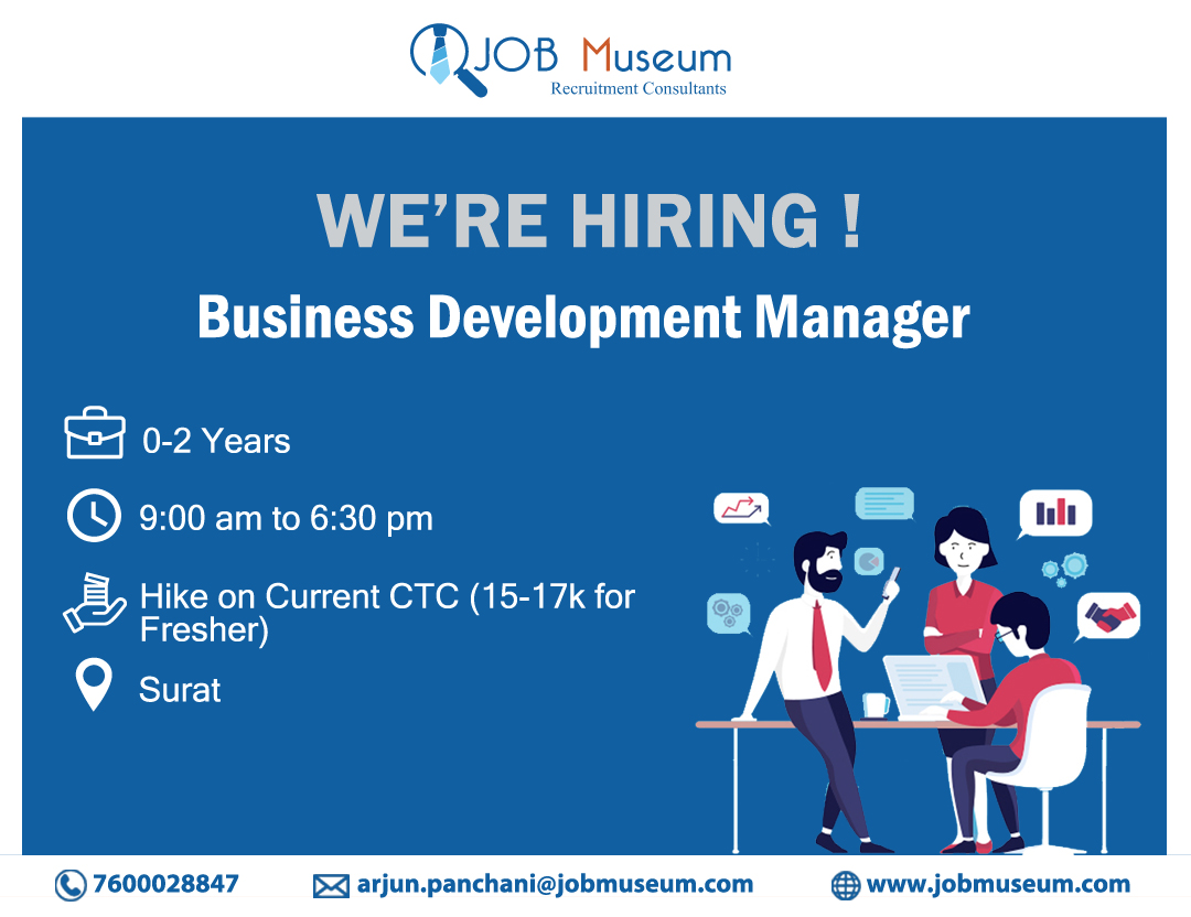 Hiring Business Development Manager.