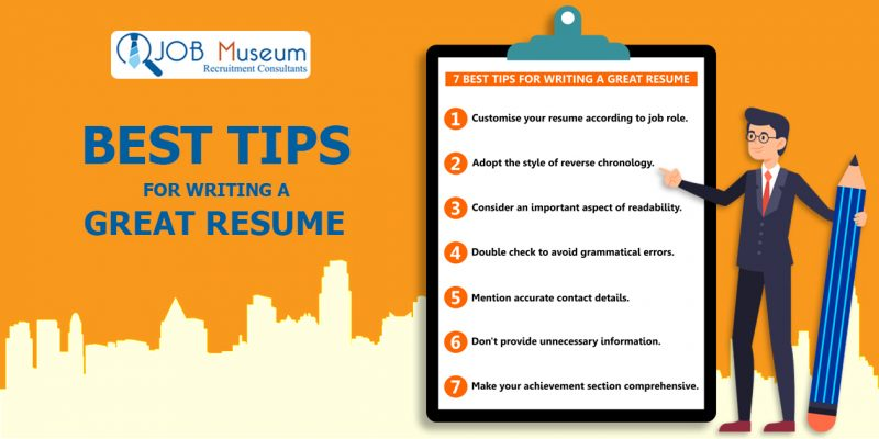 Best tips for writing a great resume