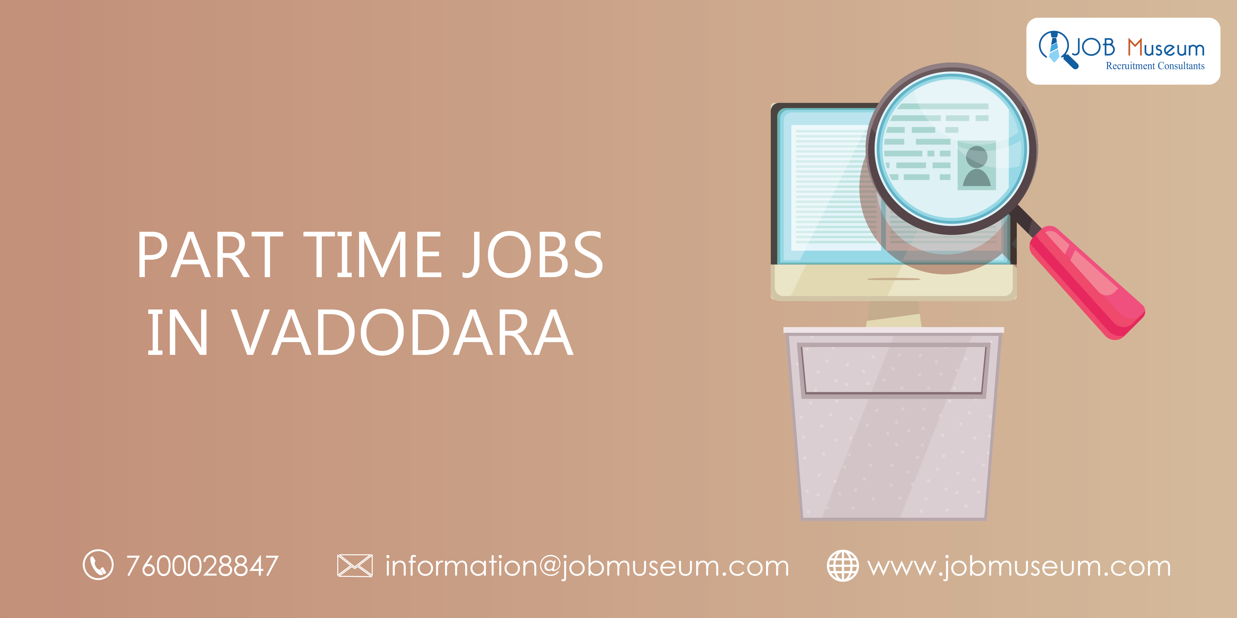 part time jobs in vadodara